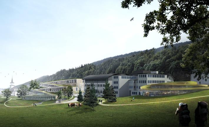 Hotel des Horlogers - all images courtesy of bjarke ingels group