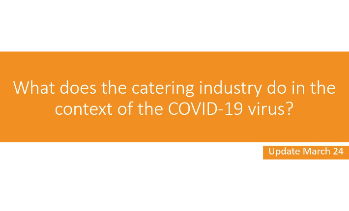 What does the catering idustry do in the context of the COVID-19 virus?