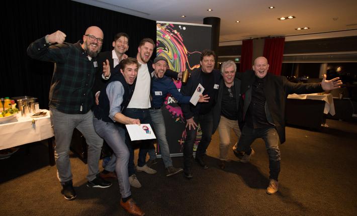 winnaars met jury